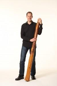 Markus Ohlef mit Didgeridoo